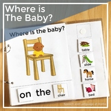 AAC Core Vocabulary Words Interactive Book: Where is the Baby?