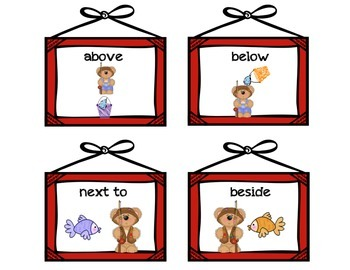 Where is the Bear? Position Word Activity