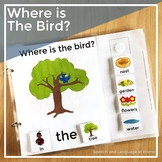 AAC Core Vocabulary Words Interactive Book: Where is the Bird?