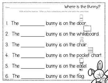 Where is the Bunny? Write the Room Center