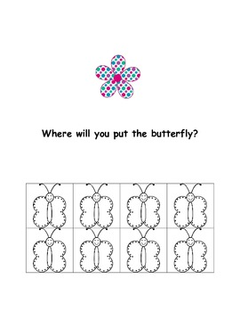 Where is the Butterfly?  A Positional Word Emergent Reader
