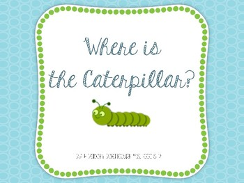Where is the Caterpillar?  Basic Spatial Concepts Interactive Book