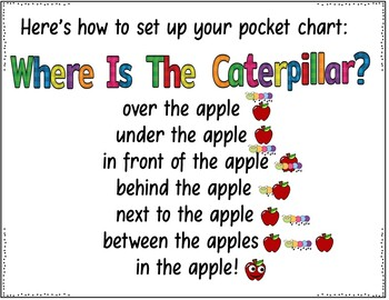 Where is the Caterpillar? (Pocket Chart and Book  Making Activity)