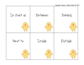 Where is the Chick?? Easter Prepositions