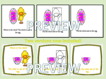 Where is the Chick? Spatial Concept Book/Bingo/Flashcards