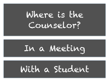 Where is the Counselor? - Chalkboard Style