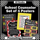 Where is the Counselor Sign, Red and Yellow Counseling Office Decor BUNDLE