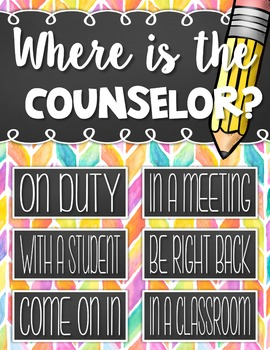Where is the Counselor? EDITABLE CHART