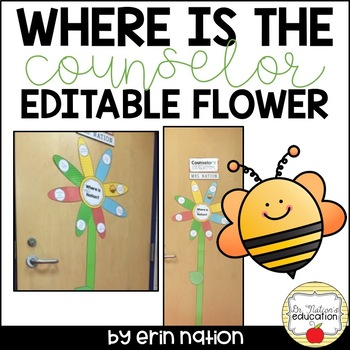 Where is the Counselor? Editable Flower