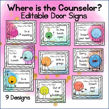 Where is the Counselor Editable Posters