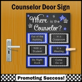 Where is the School Counselor Sign 8x10 or 16x20 Blue and Black NOT EDITABLE
