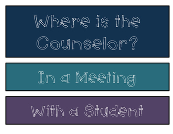 Where is the Counselor? Signs