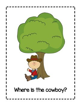 "Answering Questions using Prepositions--""Where is the Cowboy/ Cowgirl?"""