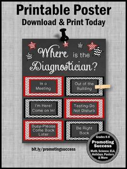 Where is the Diagnostician Printable Office Door Sign Great Gift Idea