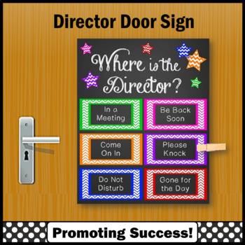where is the director door sign 8x10 or 16x20 administrator gift