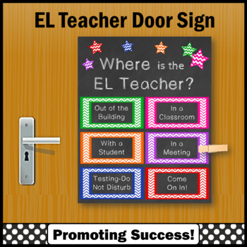 sc 1 st  Teachers Pay Teachers & Where is the EL Teacher Door Sign English Language Classroom Poster