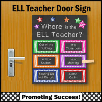 Where is the ELL Teacher Door Sign, English Language Learners