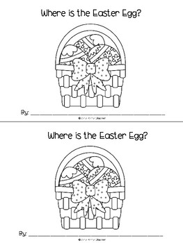 Where is the Easter Egg? Emergent reader