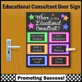 Where is the Educational Consultant Sign NOT EDITABLE