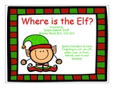 Where is the Elf? Christmas Spatial Concept Activity book with flashcards!
