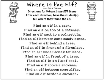 Where is the Elf?  Spatial Concepts