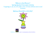Where is the Flower? Spring Spatial Concept Activity