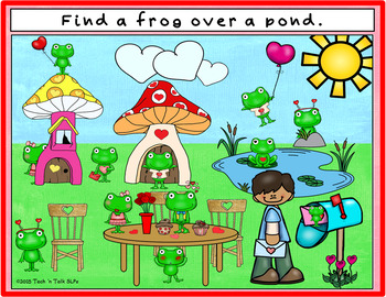 Where is the Frog?  Spatial Concepts - Valentine's Theme