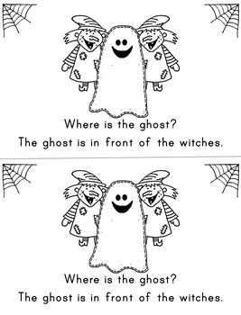 Where is the Ghost?  (emergent reader targeting prepositions)