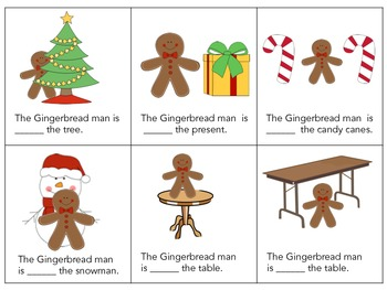 Where is the Gingerbread Man?? Christmas Prepositions