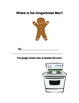 Spatial Concepts Gingerbread Man Story Book