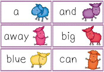 Dolch Sight Word Game {Where is the Green Sheep?}