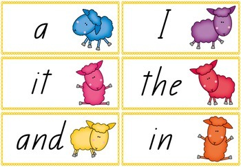 Where is the Green Sheep? A Sight Word Game in Queensland Font!