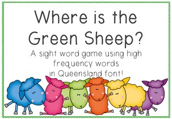 Queensland Print Sight Word Game {Where is the Green Sheep?}