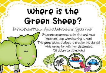 Where is the Green Sheep - Phonemic Awareness Game