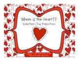 Where is the Heart?? Valentine's Day Prepositions