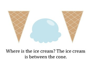 Where is the Ice Cream? Summer Spatial Basic Concept Activity