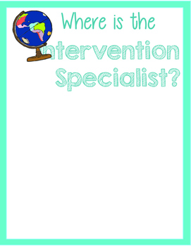 Where is the Intervention Specialist? Travel Theme Location Wheel