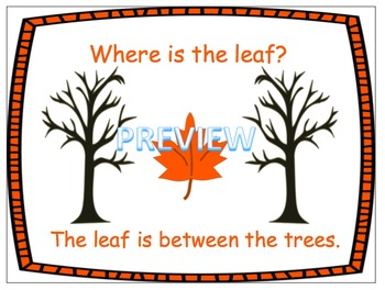 Where is the Leaf? Spatial Concept Book, Bingo and Flashcards!