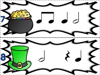 Music Games for St. Patrick's Day: Where is the Leprechaun?  {Half Note}