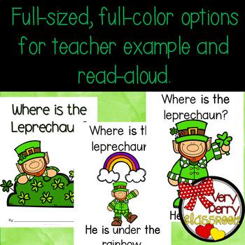 Where is the Leprechaun? Preposition Emergent Reader