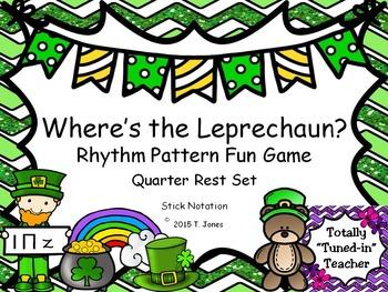 Where is the Leprechaun?  {Quarter Rest Set}