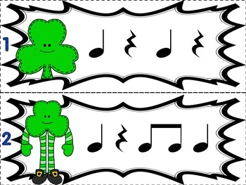 Music Games for St. Patrick's Day: Where is the Leprechaun?  {Quarter Rest}