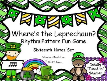 Where is the Leprechaun?  {Sixteenth Notes Set}