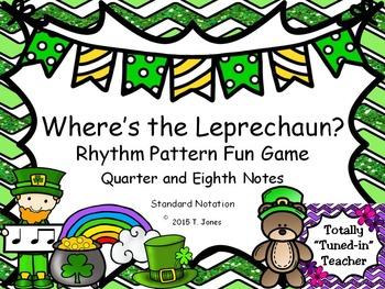 Music Games for St. Patrick's Day: Where is the Leprechaun?  {ta ti-ti}
