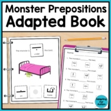 Monster Prepositions Adapted Book - Special Education and Autism Resource