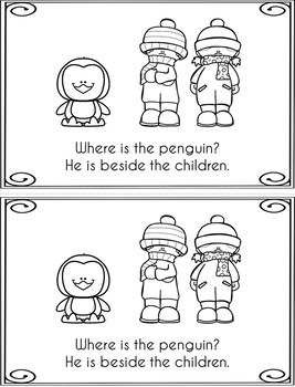 Where is the Penguin?  (emergent reader targeting prepositions)