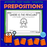 Preposition Mini-Reader Where is the Penguin? Speech Therapy