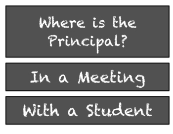 Where is the Principal?