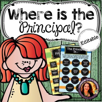 Where is the Principal Door Sign