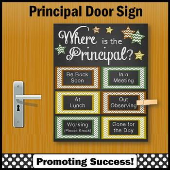 Where is the Principal Door Sign, Back to School Office Decor, Gift Idea